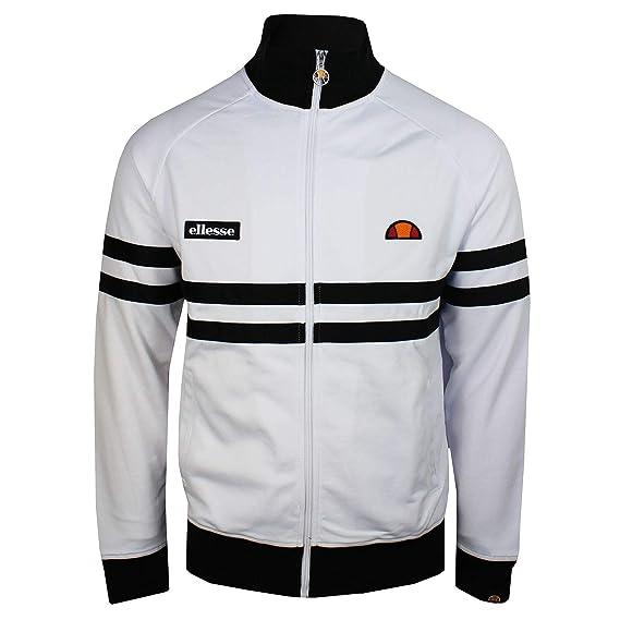 338daac0c3 ellesse Rimini Track Top White/Black 4XL: Amazon.co.uk: Clothing
