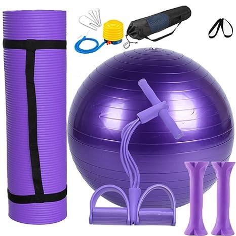 Yoga Juego Lila 1 Yoga estera de NBR, 1 pelota de yoga de PVC, ...