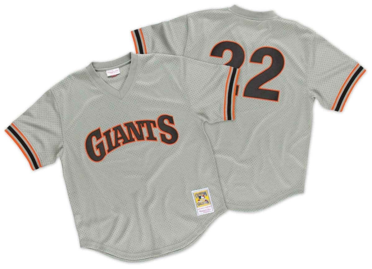 newest 030d2 cd045 Amazon.com : Mitchell & Ness Will Clark San Francisco Giants ...