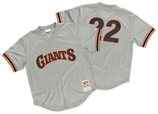 newest 878e5 355c6 Amazon.com : Mitchell & Ness Will Clark San Francisco Giants ...
