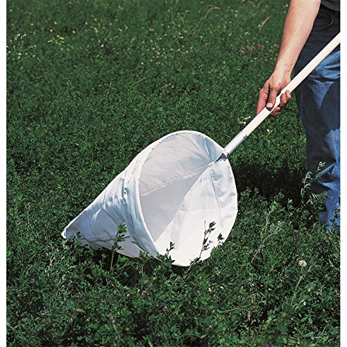"GEMPLER'S Large Professional Insect Sweep Net with Heavy Duty 15"" Diameter Sailcloth and Long Hardwood Handle plus Detachable Hoop for Easy Storage"