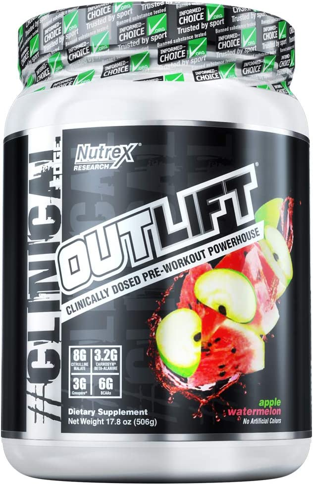 Nutrex Research Outlift 20 Serving, Apple Watermelon, 17.8 Ounce