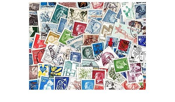 pghstamps Suecia 100 Colección de Diferentes Sellos para coleccionistas: Amazon.es: Juguetes y juegos