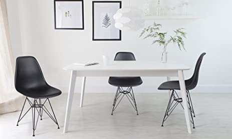 GIA Black Armless Home Office Side Dining ChairSet Of 4
