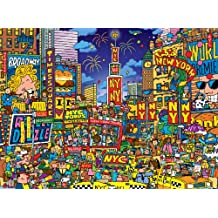 Buffalo Games Cartoon World Dave Garbot Times Square, 1000-Piece Jigsaw Puzzle