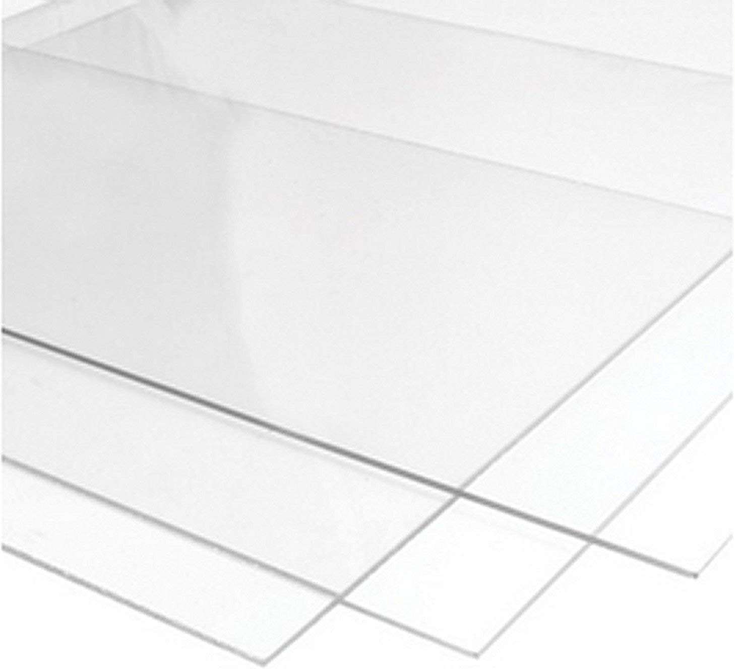 2mm Perspex Clear Acrylic Plastic Sheet Variable Sizes to Choose 420mmx600mm A2