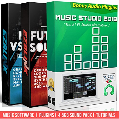 Beat Making Music Software Pro Pack - Best Music Production DAW + 5Gb of Sounds & Audio Plugins for Windows PC & MAC (2 Disc Set) Drum Midi Files