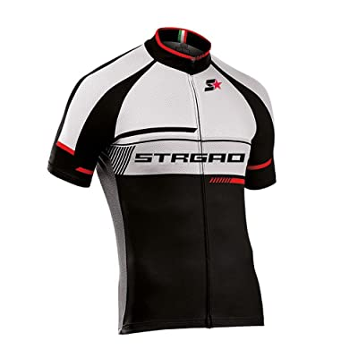 STRGAO Hommes Breathable Cycling Manches Courtes Cycling Jersey Vêtements Sports et Loisirs Maillot de Cyclisme Manches Courtes 3XL