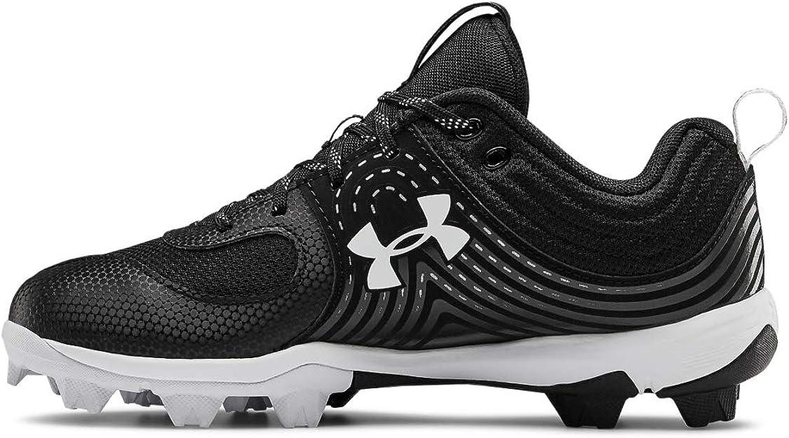 Under Armour Women's Glyde RM Softball Shoe, Black (001)/White, 8