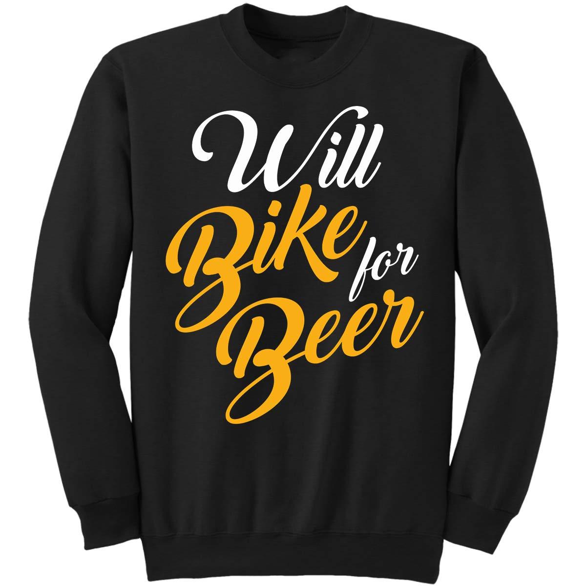 CROS Sweatshirt DoozyGifts99 Biking-Will Bike for Beer-Workout