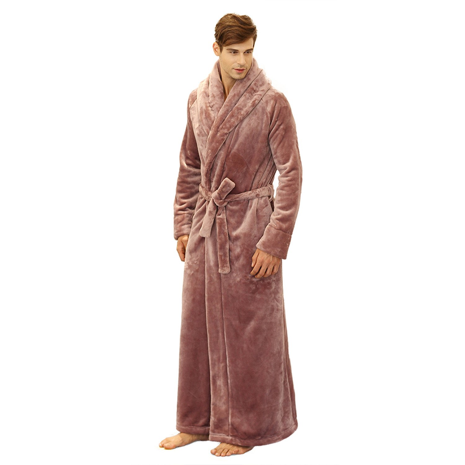 7 VEILS Women and Men Flannel Ultra Long Floor Length Bathrobes at Amazon  Women s Clothing store  041b9ee24