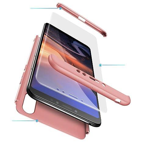 Funda XiaoMi Mi Max 3 Carcasa XiaoMi Mi Max 3 con[Protector de Pantalla de Vidrio Templado]3 en 1 Desmontable Anti-Arañazos XiaoMi Mi Max 3 Funda ...