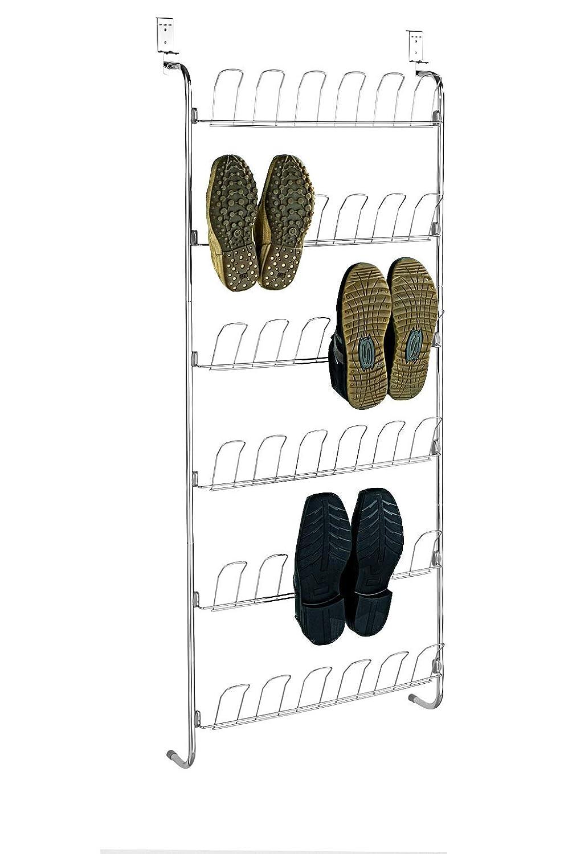 capienza: 18 paia di scarpe metallo Scarpiera da porta 18 pairs Wenko 4340030100
