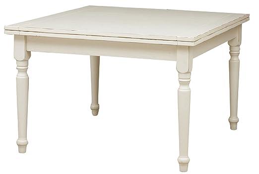 ARREDO WHITE Mesa a Libro de Maciza de Tilo Blanco 120 x 80 x 120 ...