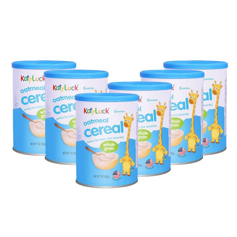 Katyluck Oatmeal Baby Cereal 7 Ounce (6 Pack)