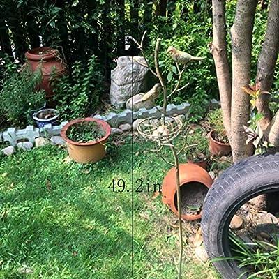 Yang baby Adornos de jardín, Hierro Forjado Inserciones, Adornos Decorativos, Bird Modelo Adornos de jardín, el Patio del Ornamento, césped Adornos: Amazon.es: Hogar