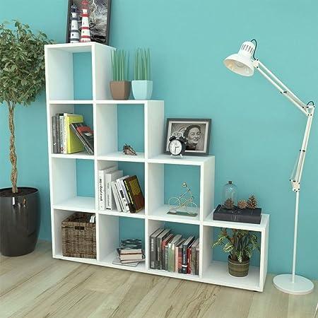 guyifuzhuangs Estanterías Librerías y estanteríasEstantería librería en Forma de Escalera 142 cm Blanca: Amazon.es: Hogar