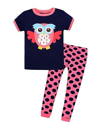 6f04ef6cb44 Benaive Little Girls Pajama Set Kids T Shirt Top   Pants 100% Cotton  Sleepwear (