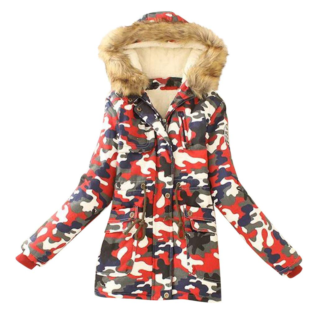 Cegduyi Women's Winter Fashion Camouflage Thick Zipper Jacket Thickened Coat Comfortable Coat, Casual Fashion Jacket by Cegduyi_women coats