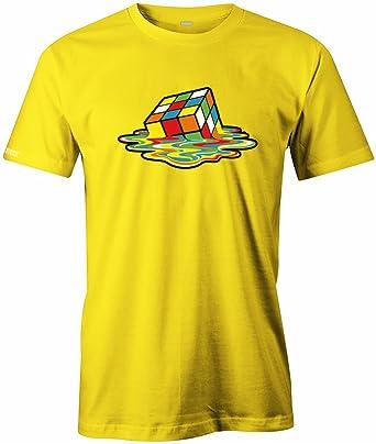 Jayess Retro Würfel geschmolzen Flüssig - Herren T-Shirt in Gelb by Gr. S
