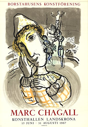 Marc Chagall Circus with Yellow Clown 33