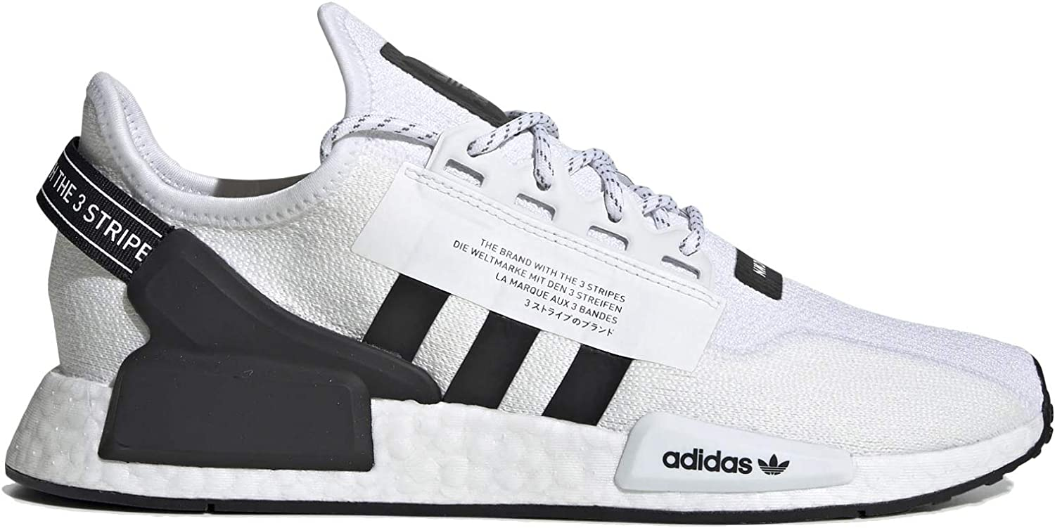 adidas Men s NMD R1 V2 Casual Shoes 9.5, White Core Black White