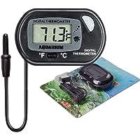 AUTIDEFY LCD Digital Aquarium Thermometer Fish Tank Water Terrarium Temperature