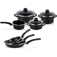 Magefesa - Bateria de cocina 7 piezas + Set Juego 3 Sartenes 18-20-