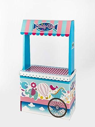 Candy Bar Sin Bandeja Vacío La Asturiana - Carrito de Mesa Dulce en Cartón Publicidad de Marca ...
