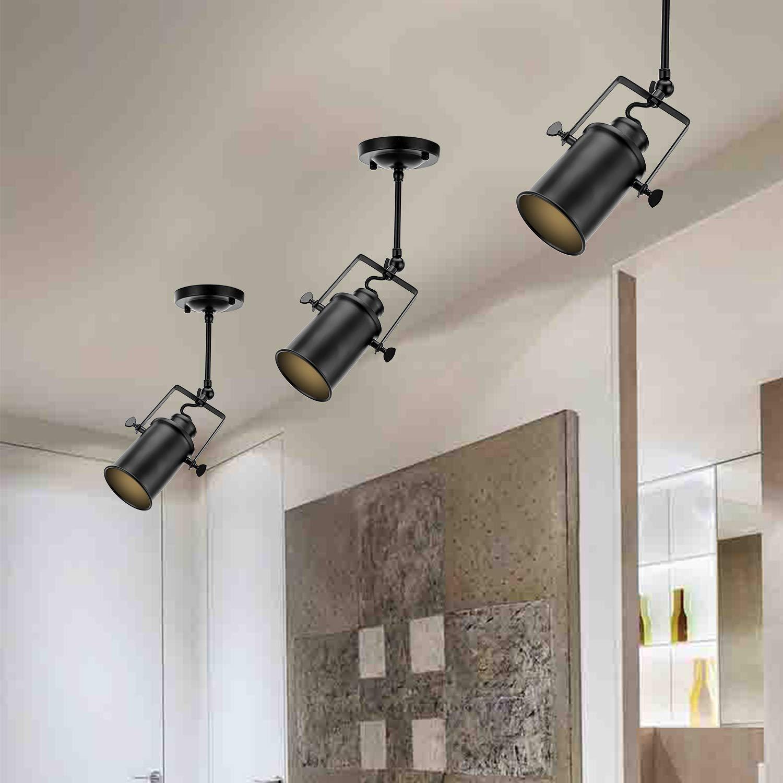 Frideko vintage ceiling spotlight retro industrial ceiling spot with 3 sockets for cafe bar dining room