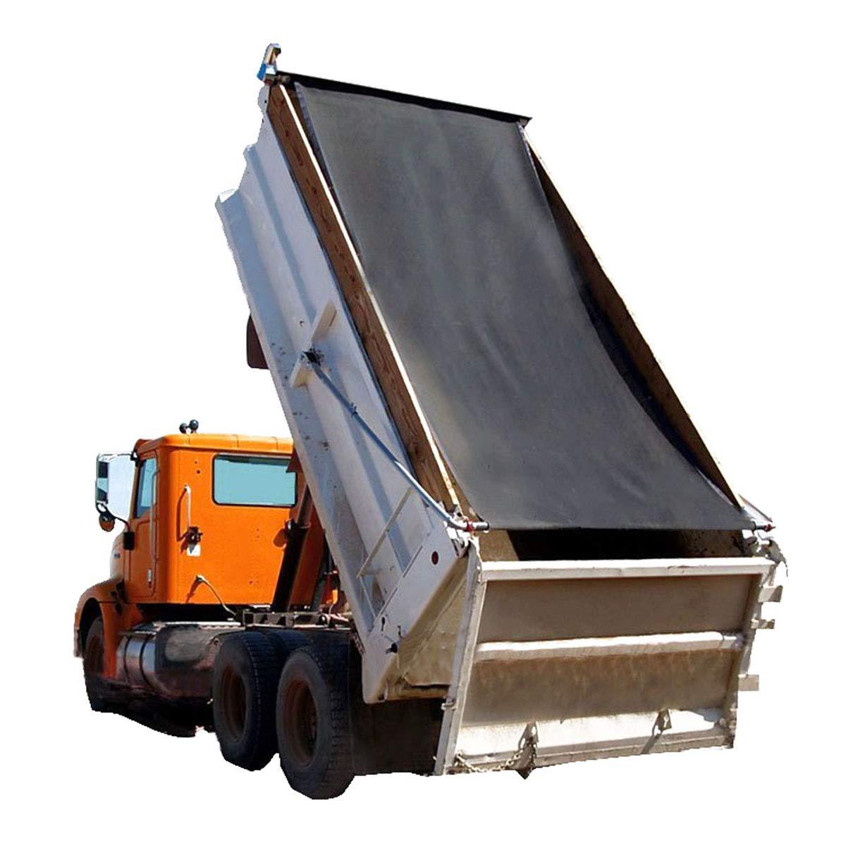 Dump Truck Mesh Tarp 8'X14' - Black Tentproinc Heavy Duty Cover with 6'' Pocket Reinforced Double Needle Stitch Webbing Ripping Tearing Stop, No Rust Thicker Brass Grommets –3 Years Limited Warranty