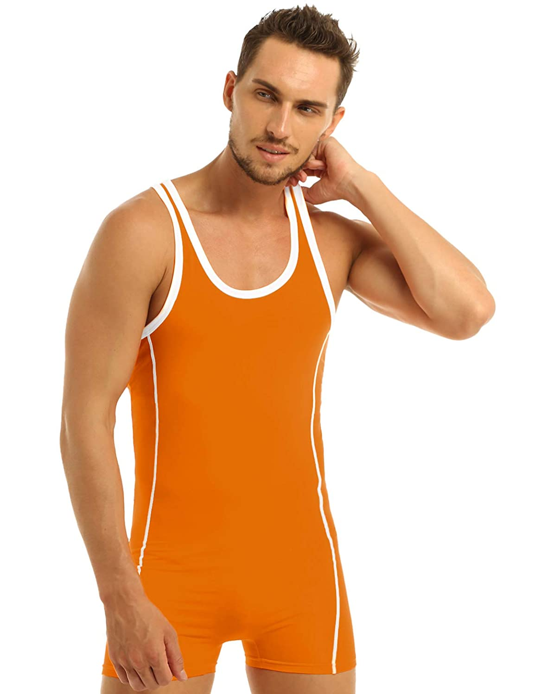 Men/'s One Piece Wrestling Singlet Bodysuit Underwear Leotard Jumpsuit Shirts Top