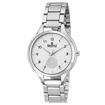 aa873e36300 Image Unavailable. Image not available for. Colour  Swisstyle Analogue  White Dial Women s Watch ...