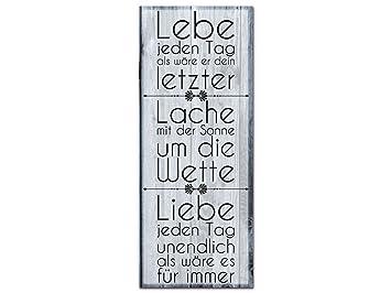 Grazdesign 100326 002 01 04 Acrylglas Wandbild Mit Spruch Lebe Jeden