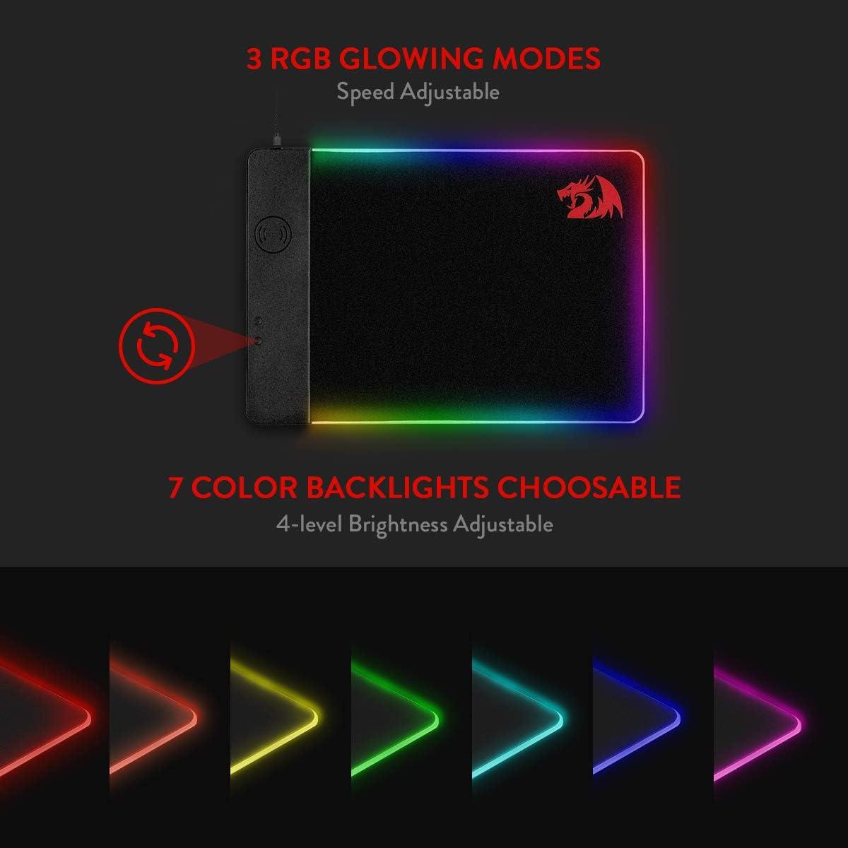 Non-Slip Rubber Base Mousepad for Laptop Premium-Textured Mouse Mat Redragon P012 Mouse Pad with Stitched Edges 33 * 26 * 0.3cm Computer /& PC