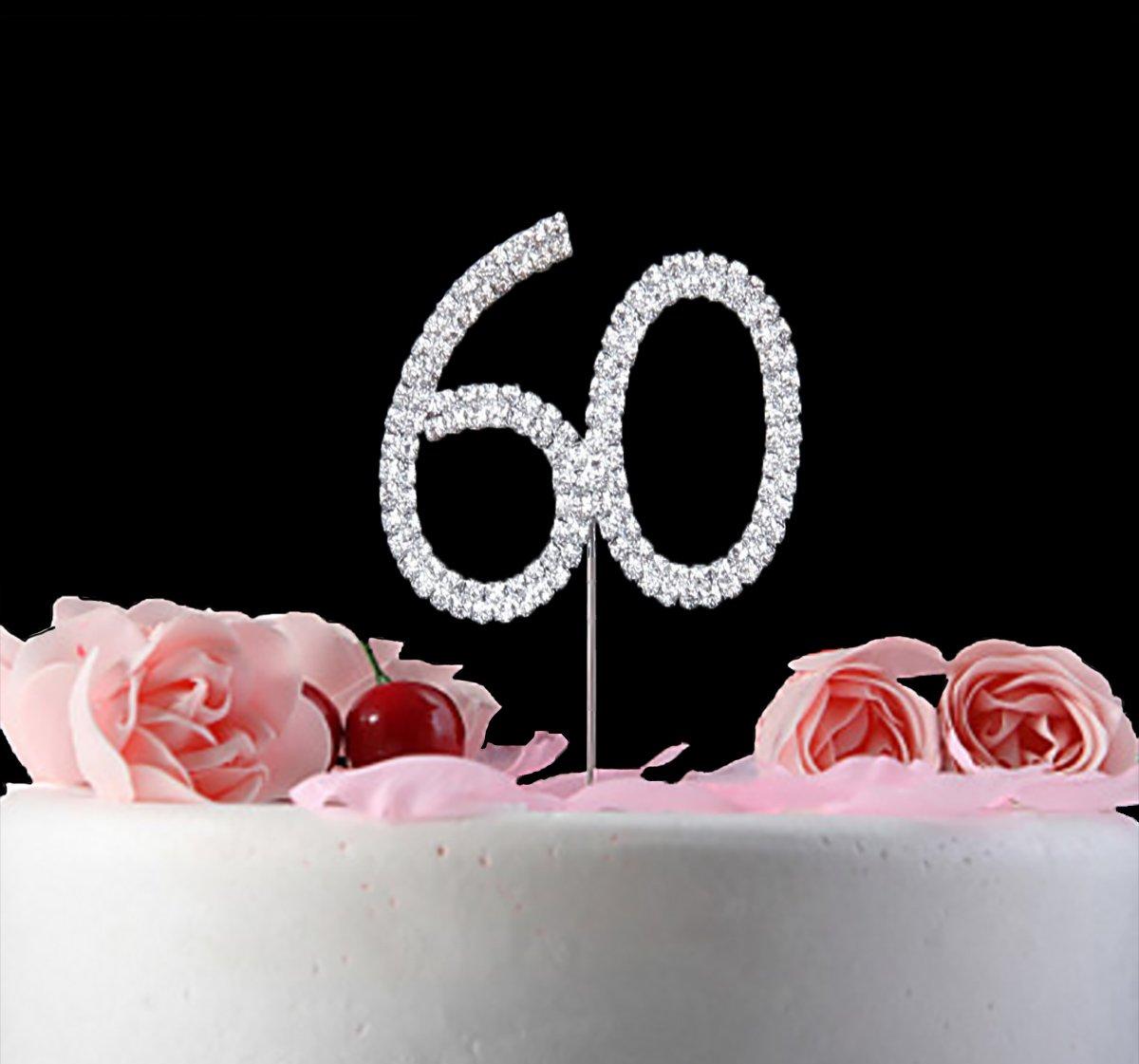 Birthday Cake Topper Anniversary Keepsake (1, 60)