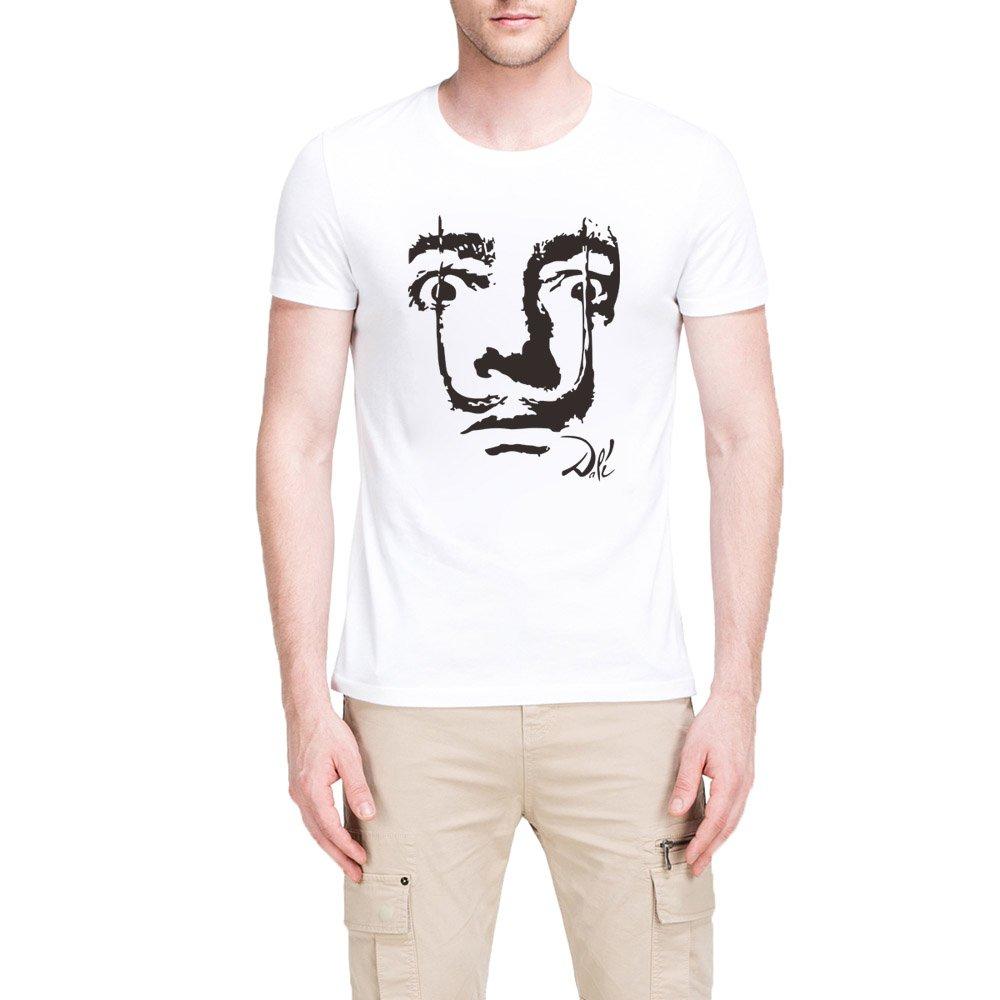 Loo Show S Spain Salvador Dali Face Casual T Shirts Tee