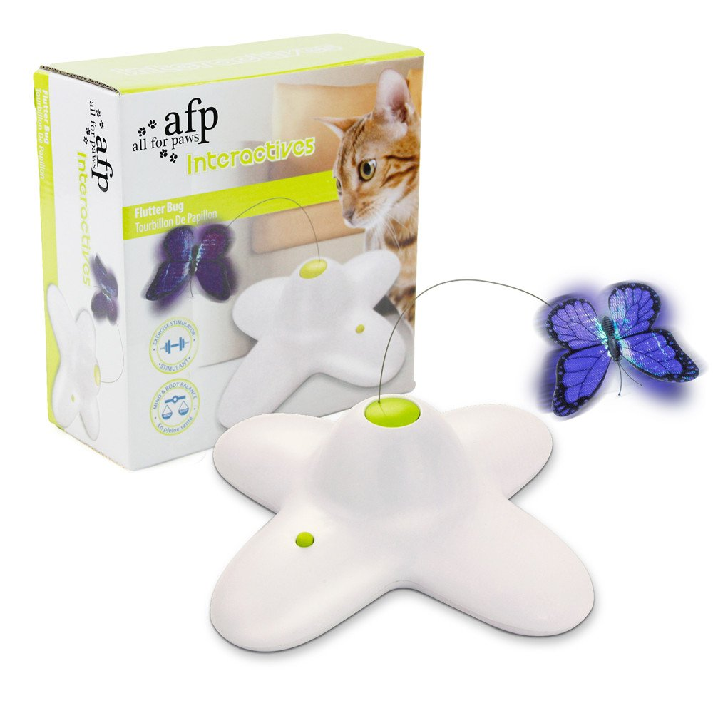 AFP Interactives Shiny Butterfly Flutter Bug Cat toy