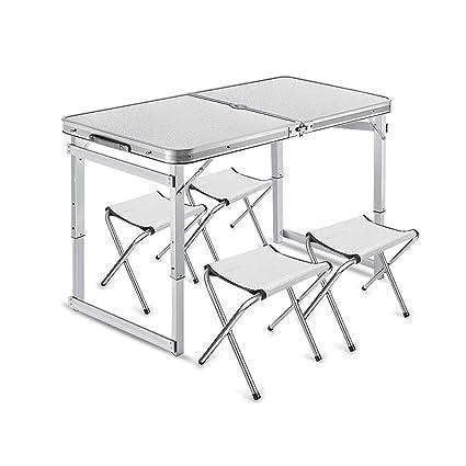 Amazon.com: Mesa plegable, color blanco para exteriores ...