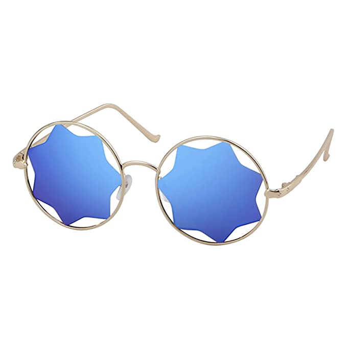 Amazon.com: Gafas de sol redondas, unisex, con lentes de ...
