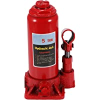 Hydraulic Bottle Jack Lifting Car Van Track 4 Tons Heavy Duty Lifting Stand 6.6-12.89inch Adjustable Height Red 4000kg…