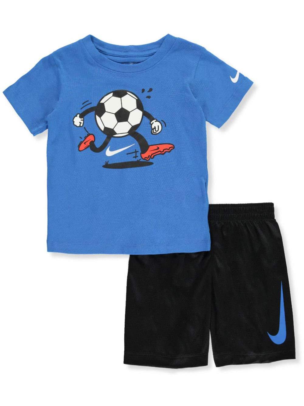 Nike Boys' 2-Piece Shorts Set Outfit - Black, 6