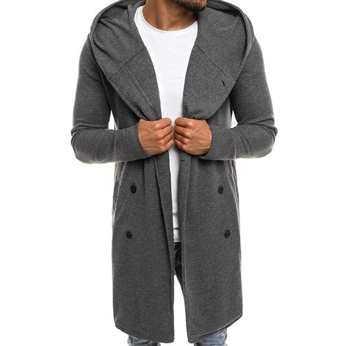 Abbigliamento Uomo ASHOP Cappotto Lungo Inverno Trench Coat Casual Elegante  Slim Fit 2019 Giacca da A b250287c43b