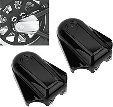 Black GZYF ABS Motorcycle Rear Axle Cover Fits 2008-2017 Harley Davidson Softail