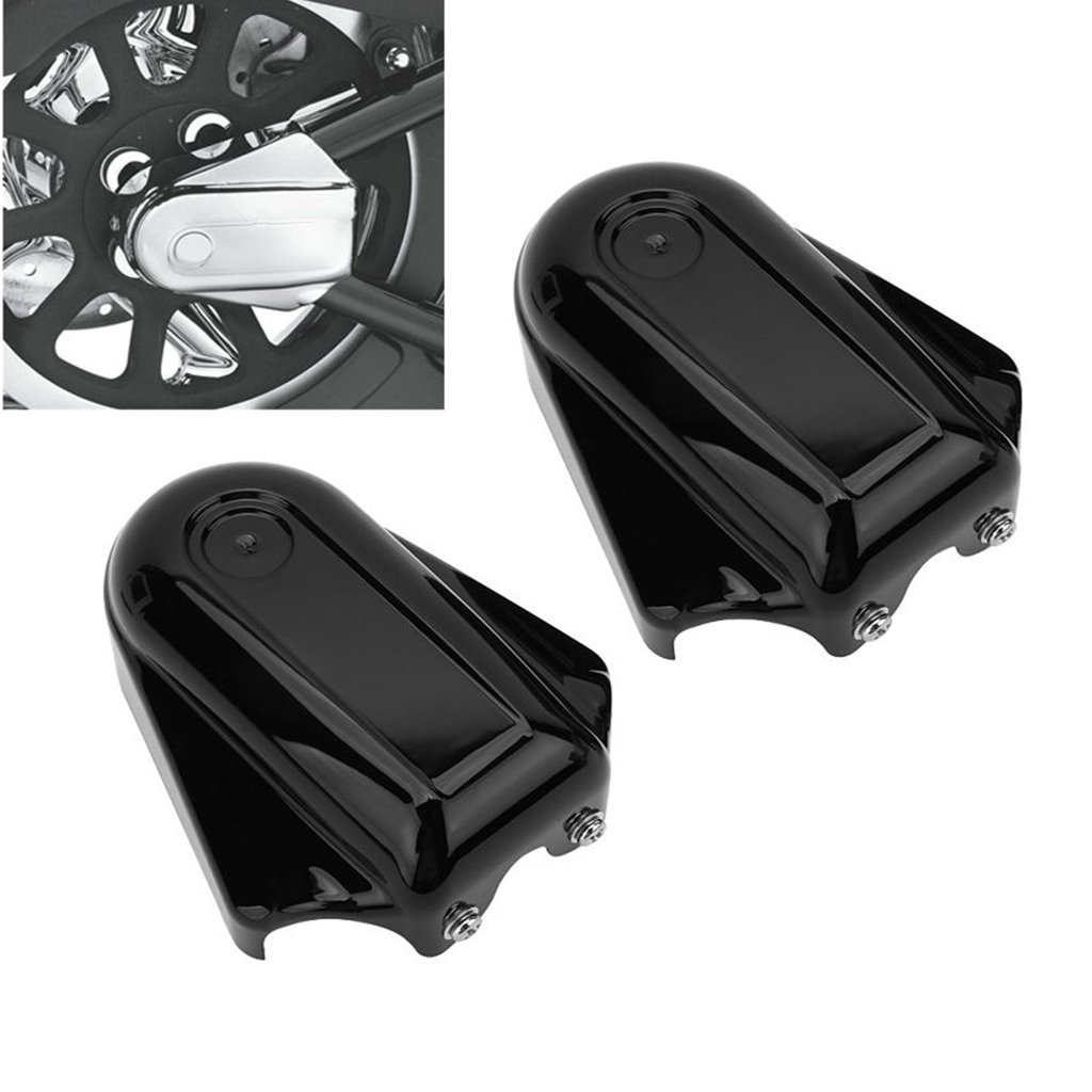 Phantom Bar Shield Rear Axle Covers For Harley Softail Deluxe FLSTN FXSTB 2008-2017 (Black) by YYS