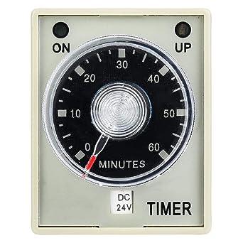 Rel/é temporizador Nitrip AH3-3 Tipo electr/ónico Retardo de liberaci/ón ajustable Rel/é temporizador 8 pines 60Min 380V