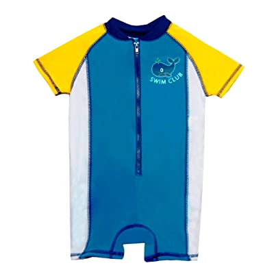 ebc5cec65f Baby Boys Rashguard Color Block Onesie 50 UV Protection Blue