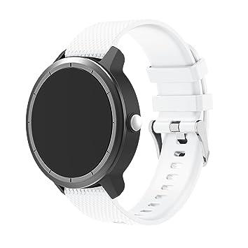 Correa de silicona de TopTen, de repuesto, para reloj Garmin Vivoactive 3, Smasung