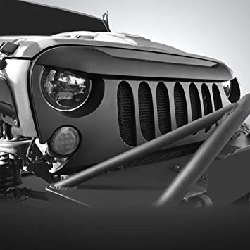 Amazon.com: AMERICAN MODIFIED Jeep Wrangler Grill Grille ...