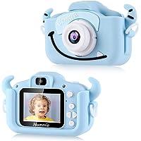 Hommie Cámara para Niños, cámara de Video 1080p HD con Mmoria 16GB, Pantalla LCD a Color (Cámara en Forma de Gato Azul)